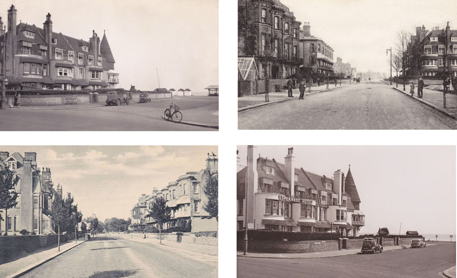 "Four shots showing the location of ""The Haven"" in The Esplanade, Worthing."